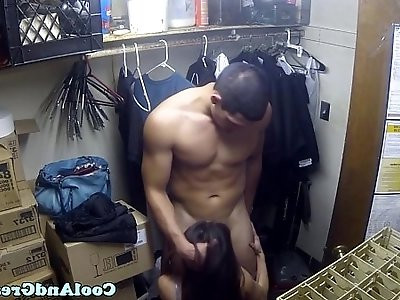 Highheeled asian cumswallows after fuck