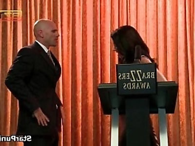 Slutty whore gets banged by stud at an awards ceremony