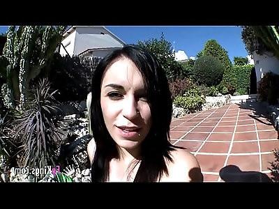 Spanish pierced brunette babe loves cocks