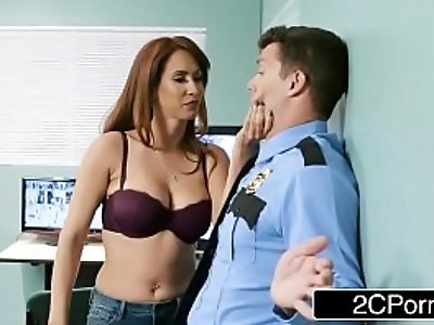 Latina milf love teaches a mall cop a lesson
