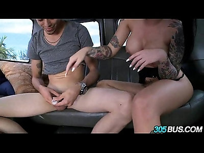 Christy Mack fucks a couple of dudes on the