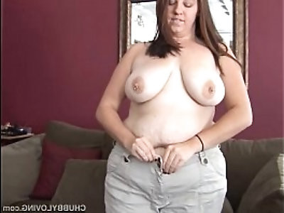 Busty brunette BBW loves to fuck her fat juicy pussy U