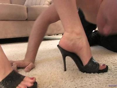 Worshiping Megans Divine Feet Femdom foot fetish