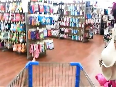 Naughty Woman Peeing In Wallmart Changing Room