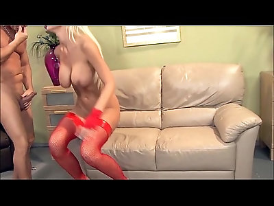 Babe with big tits gets fucked in thigh high stockings