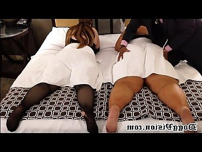 Sisters with Huge Asses Get Spanked and Squirt DV
