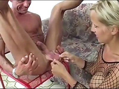 Blonde loves insertions and rimjob