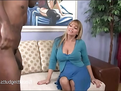 This black huge dick stud has the perfect T shirt on for picking up MILFs