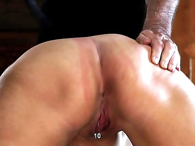 Asshole and pussy whipping for the chubby girl