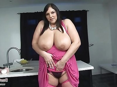 Carol Brown Melons Play with Dildo Fuck