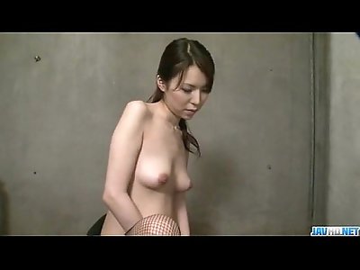 Rino Asuka plays with sex toys deep down her hairy cherry