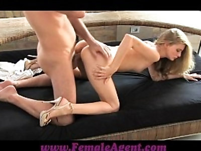 FemaleAgent Stunning blonde fucked by MILF agents boss