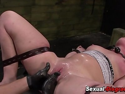 Bdsm whore gets fisted