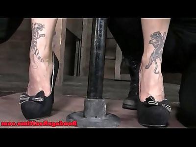 Bondage BDSM Bella Rossi getting whipped