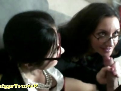 Bigtit spex milfs enjoying cock together