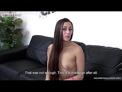Skinny tall dude try challenge czech pornstar mea melone