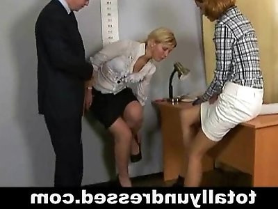 Humiliating totally nude job interview