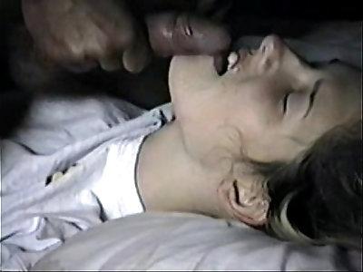 teen getting a really nasty facial