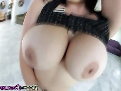 Pole dancer tit fucks