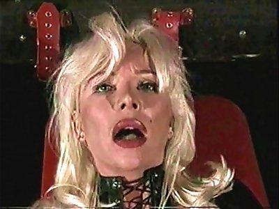 Beautiful High Heels Blonde MILF Hard Anal Big Cock, Leather Fetish, Helen Duval