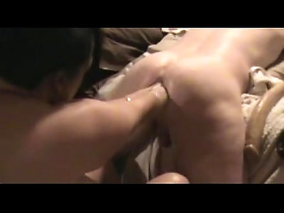 amateur femdom double fists his man